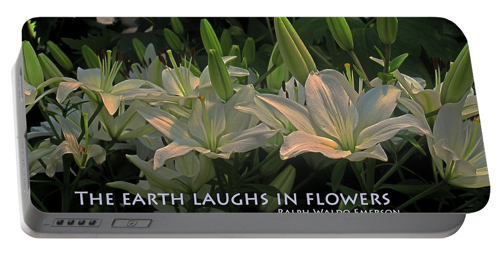 Earth Portable Battery Charger featuring the photograph The Earth Laughs by Ian MacDonald