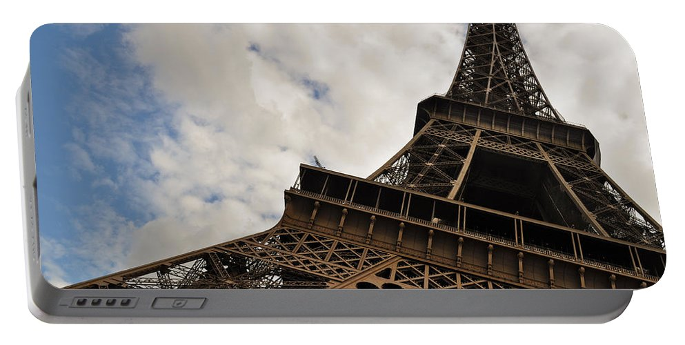 The Eiffel Tower Polarized Portable Battery Charger featuring the photograph The Eiffel Tower Polarized by Mary Machare