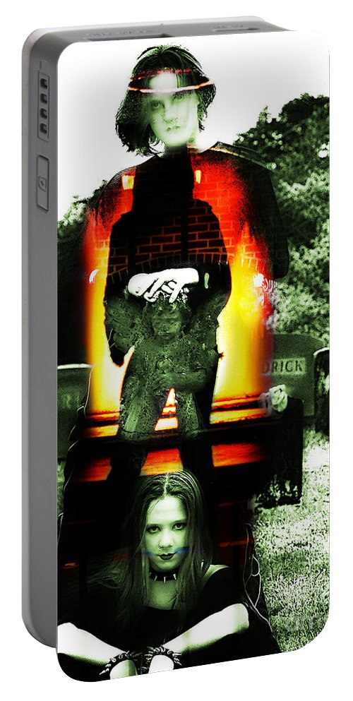 Clay Portable Battery Charger featuring the photograph The Evil Within by Clayton Bruster