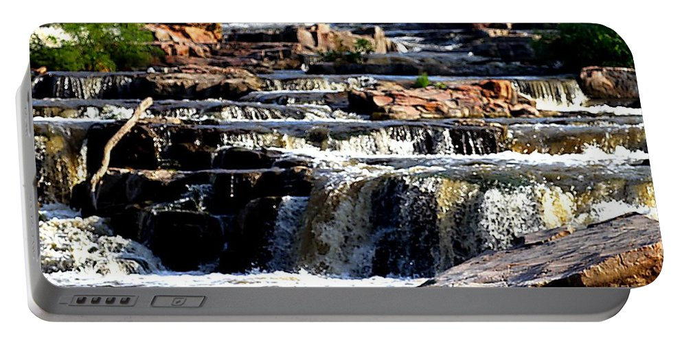 Sioux Falls Portable Battery Charger featuring the photograph The Falls by Elizabeth Winter