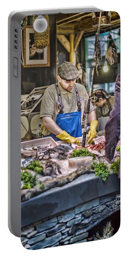 Fish Monger Portable Battery Charger featuring the photograph The Fish Monger by Heather Applegate