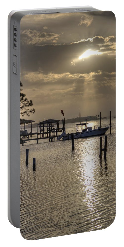 Golden Portable Battery Charger featuring the photograph The Golden Hour IIi by David Troxel