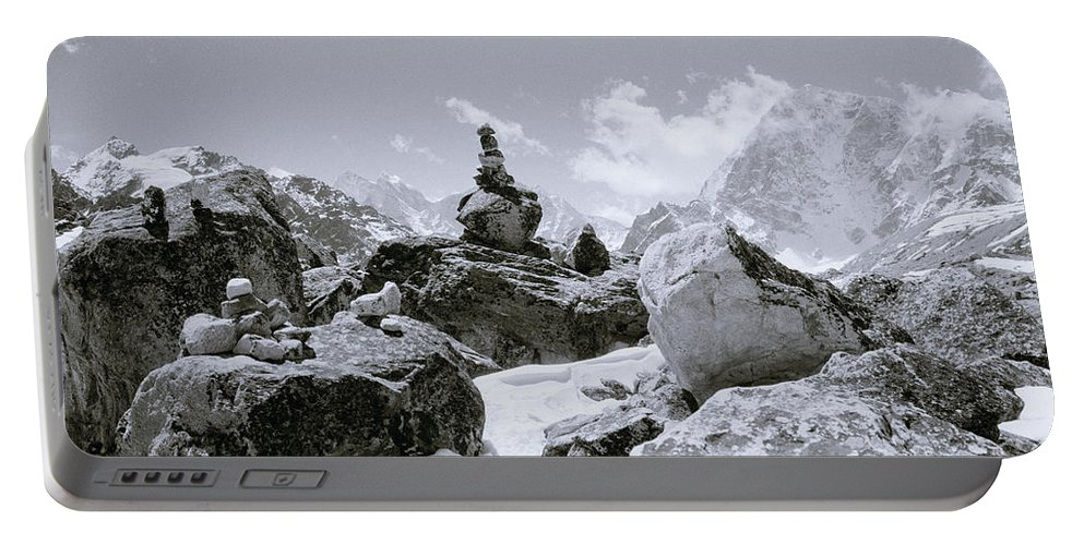 Himalaya Portable Battery Charger featuring the photograph The Himalayas by Shaun Higson
