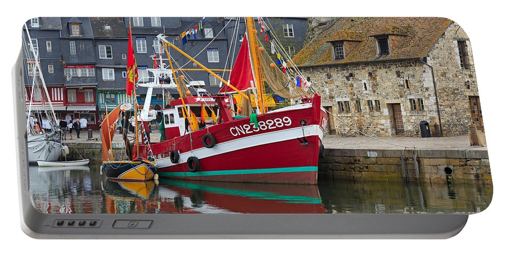 Honfleur Portable Battery Charger featuring the photograph The Historic Fishing Village Of Honfleur by Louise Heusinkveld