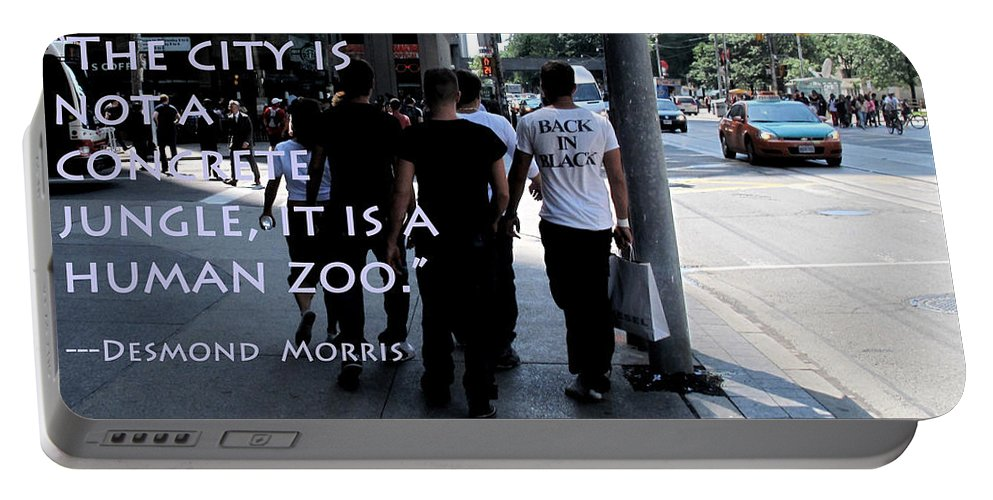 City Portable Battery Charger featuring the photograph The Human Zoo by Ian MacDonald