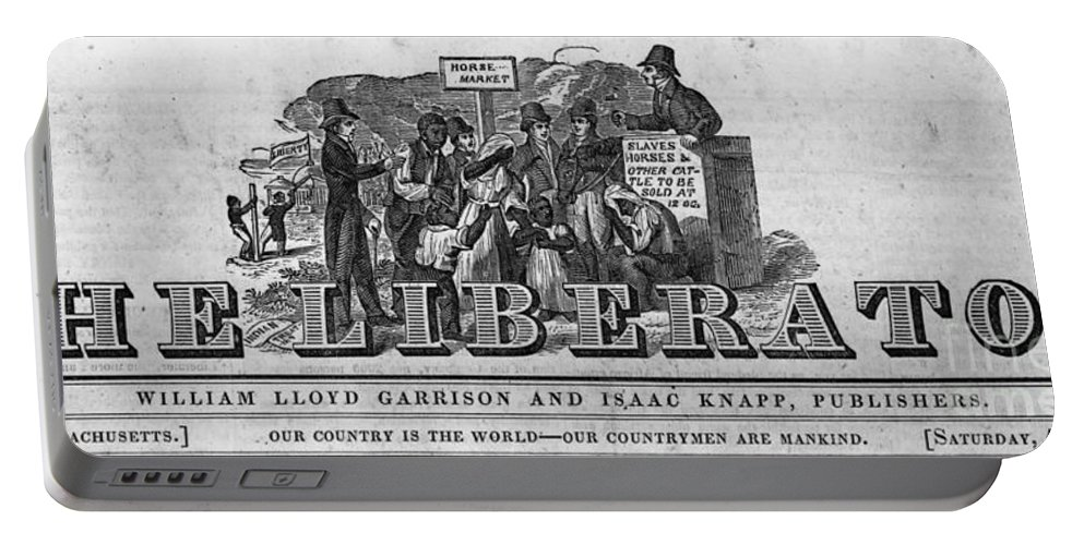 Historical Portable Battery Charger featuring the photograph The Liberator Masthead by Photo Researchers