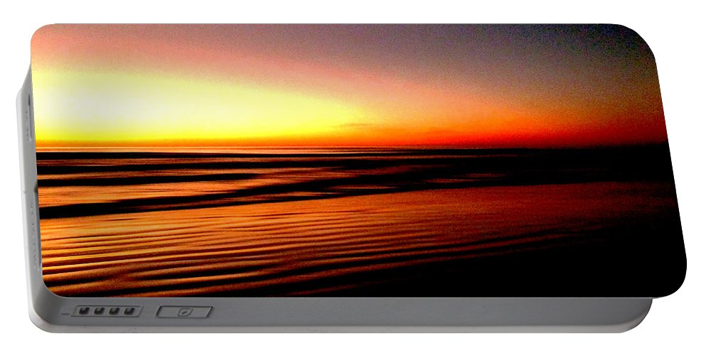 Dawn Portable Battery Charger featuring the photograph The Lines Of Sunrise by Steve Taylor