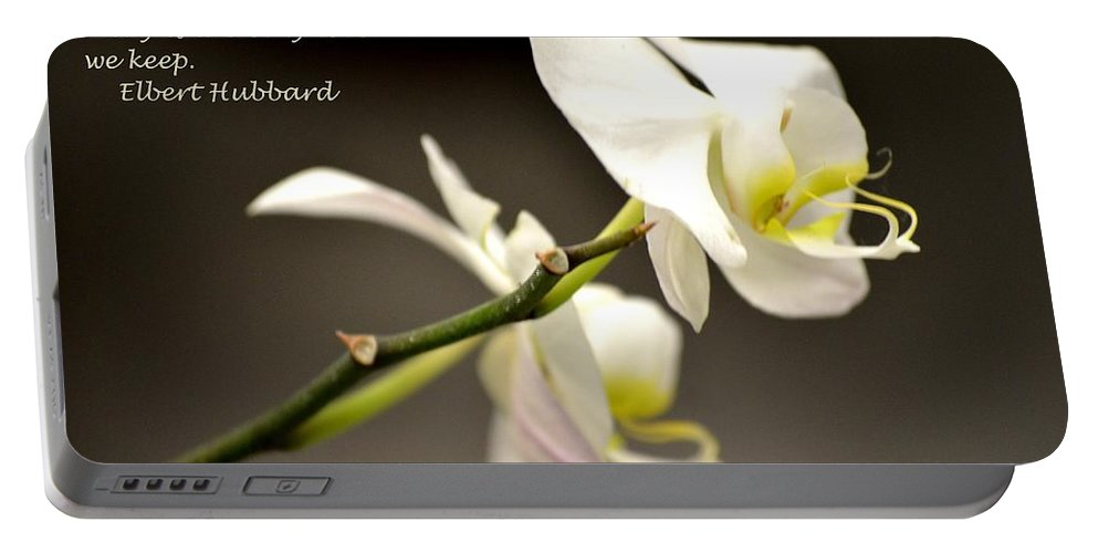 Love Portable Battery Charger featuring the photograph The Love We Keep by Maria Urso