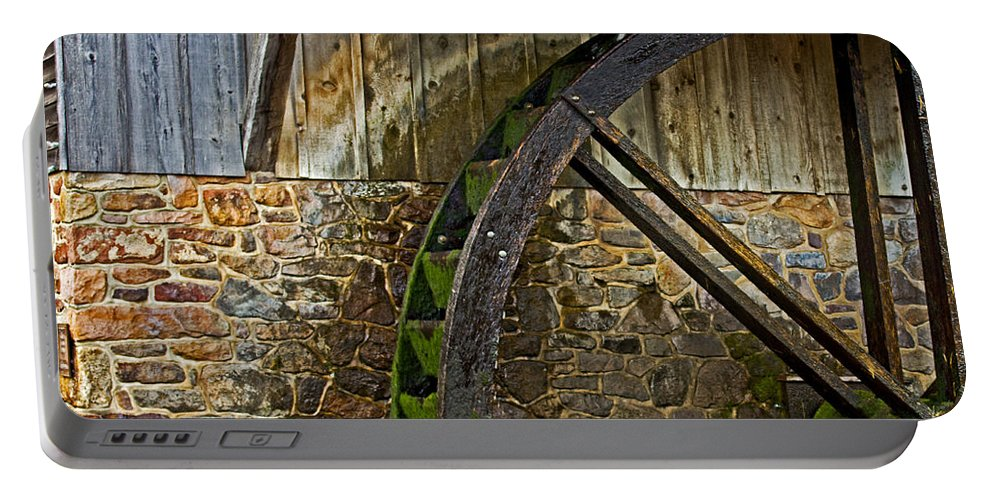 Water Portable Battery Charger featuring the photograph The Mill by Tom Gari Gallery-Three-Photography