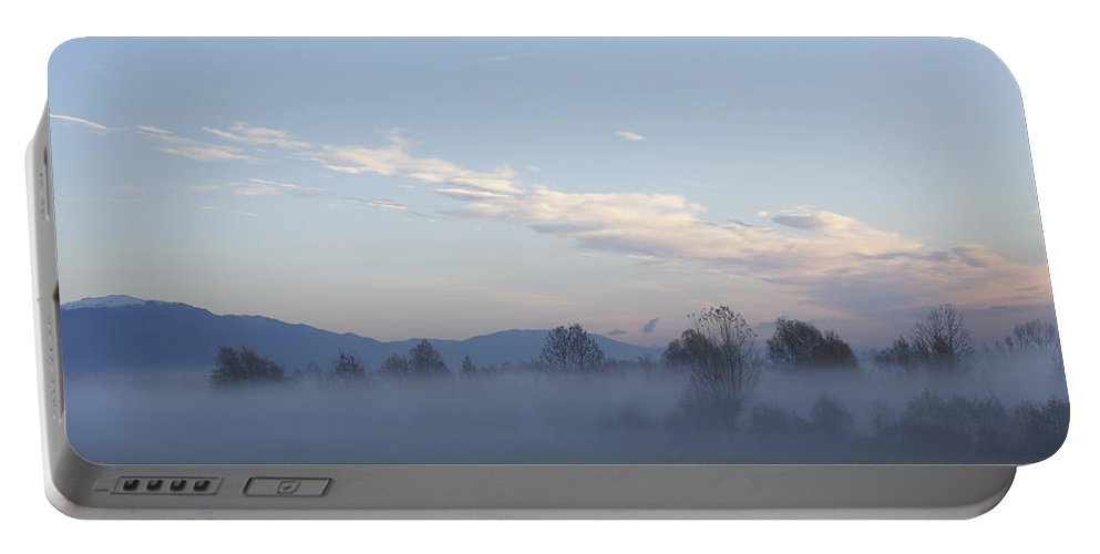 Veneto Portable Battery Charger featuring the photograph The Morning Fog by Donato Iannuzzi