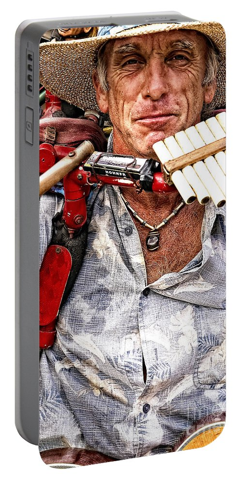 Man Portable Battery Charger featuring the photograph The Music Man by Kathleen K Parker