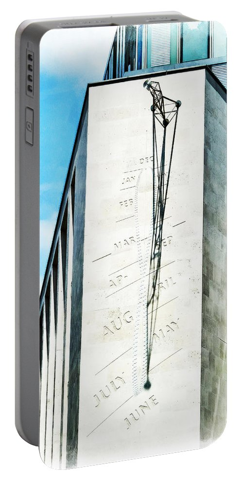 Noon Portable Battery Charger featuring the photograph The Noon Sundial At The London Stock Exchange by Steve Taylor