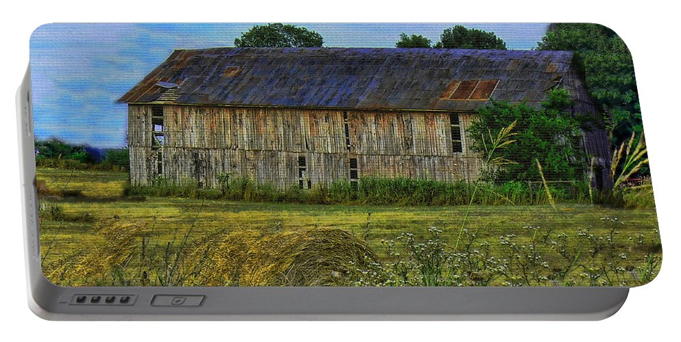 Barn Portable Battery Charger featuring the photograph The Old Barn by Ericamaxine Price