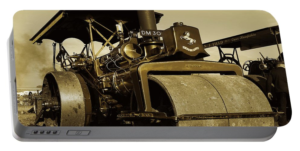 Fred Portable Battery Charger featuring the photograph The Old Steam Roller by Rob Hawkins