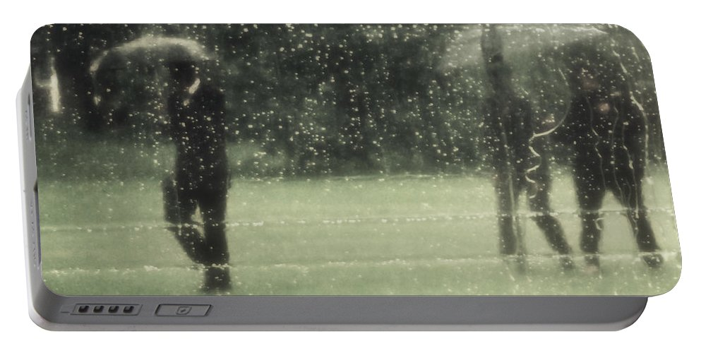 Rain Portable Battery Charger featuring the photograph The Rain Shower by Marysue Ryan