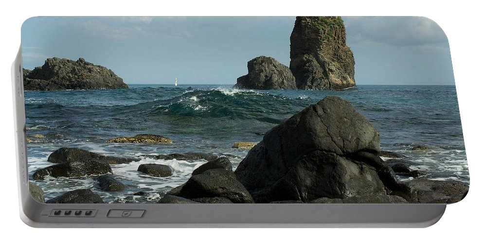 Acireale Portable Battery Charger featuring the photograph The Sea Of Sicily by Donato Iannuzzi