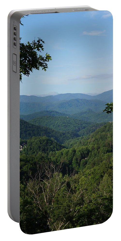 Mountain Portable Battery Charger featuring the photograph The Smoky Mountains by Megan Cohen