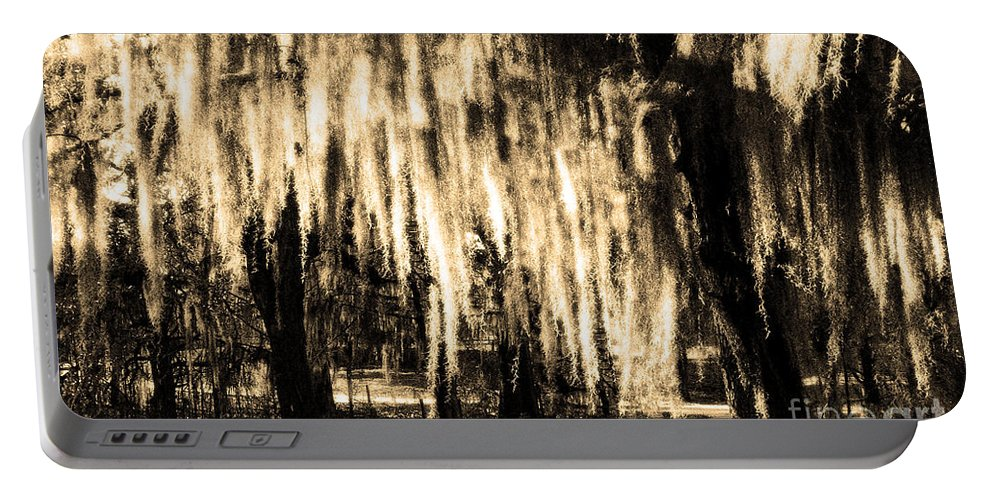 Spanish Moss Portable Battery Charger featuring the photograph The Spanish Moss by Mike Nellums