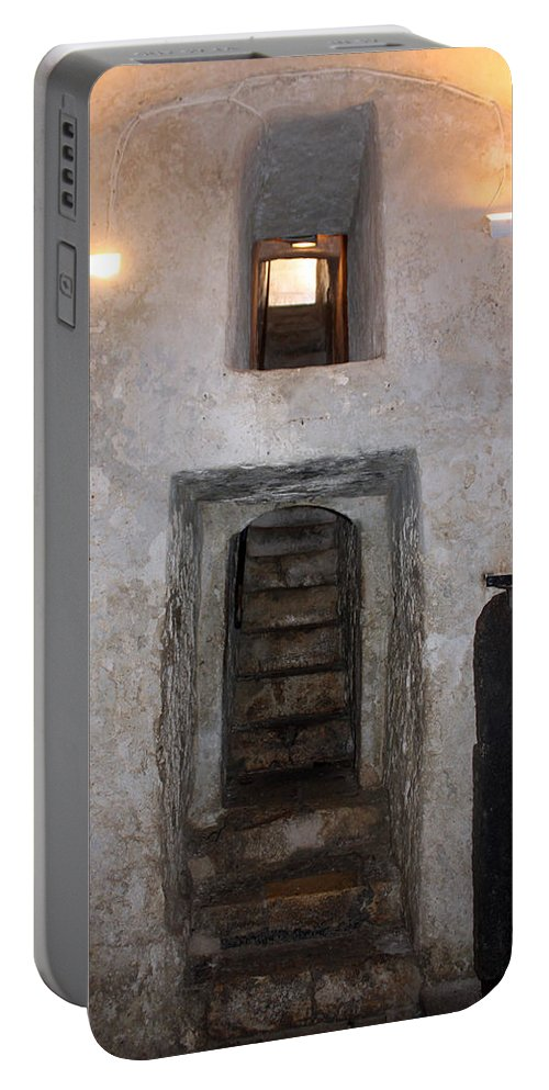 Stairs Portable Battery Charger featuring the photograph The Stairs To John The Baptist Tomb by Munir Alawi