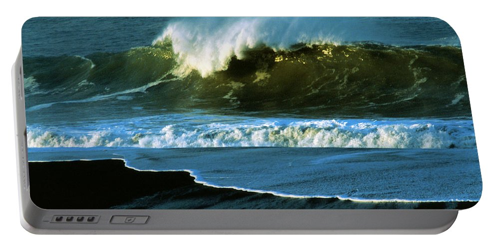 Ocean Portable Battery Charger featuring the photograph The Surf Motel by Jerry McElroy