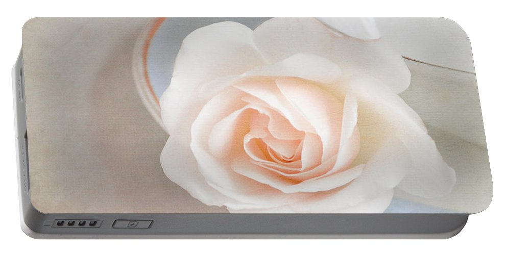 Rose Portable Battery Charger featuring the photograph The Sweetest Rose by Lyn Randle