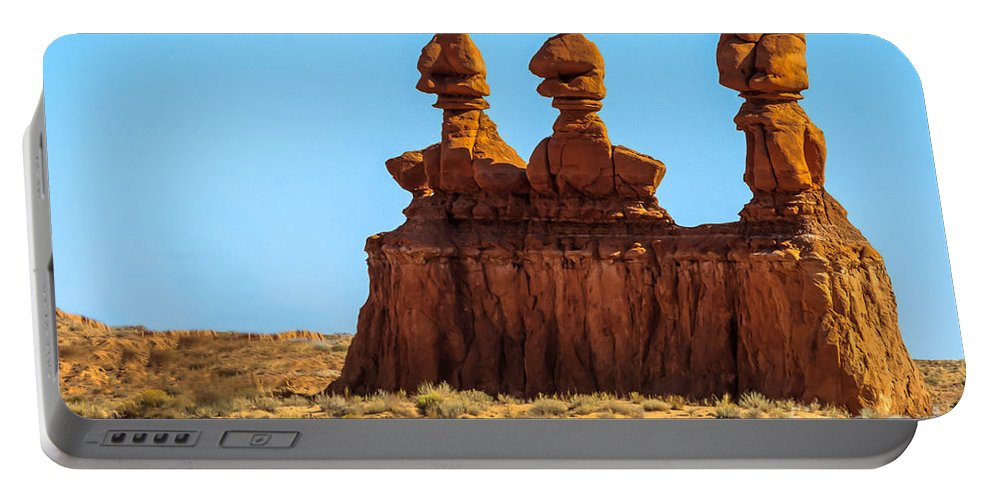 Green River Portable Battery Charger featuring the photograph The Three Goblins by Robert Bales