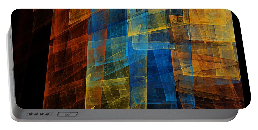 Fine Art Portable Battery Charger featuring the digital art The Towers 1 by Andee Design