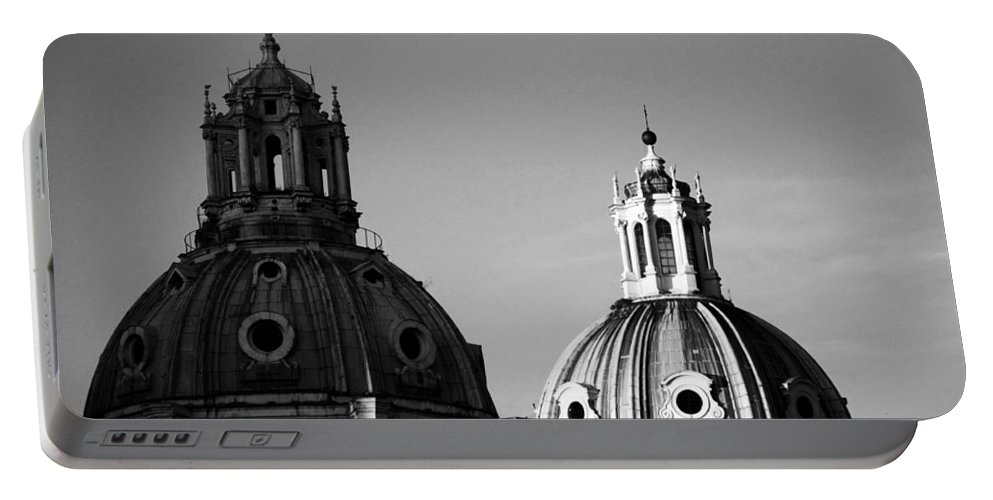 Rome Portable Battery Charger featuring the photograph The Twin Domes Of S. Maria Di Loreto And Ss. Nome Di Maria by Fabrizio Troiani