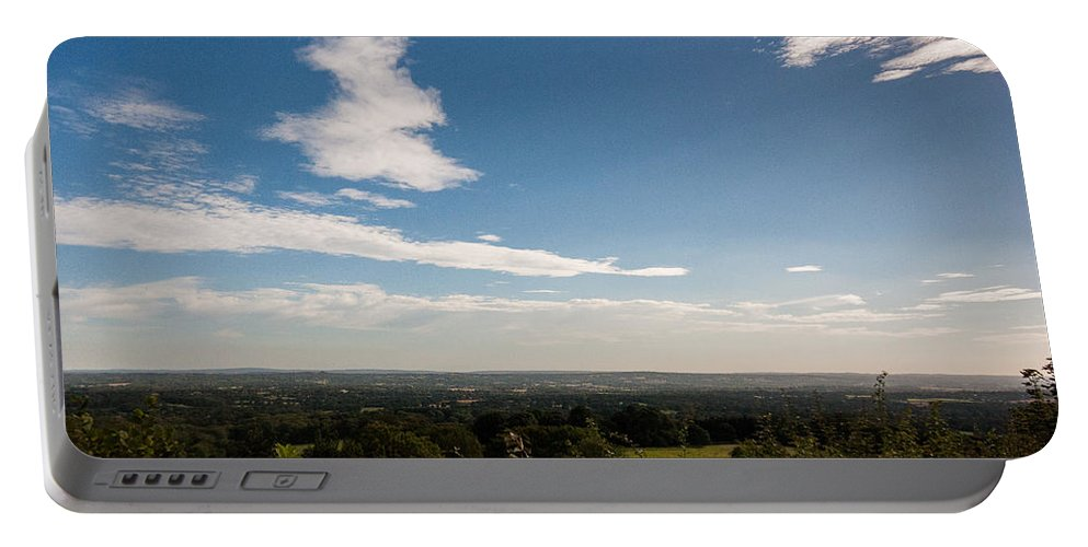 Clouds Portable Battery Charger featuring the photograph The Vale Of Kent by Dawn OConnor