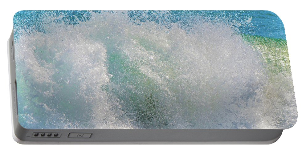 Waves Portable Battery Charger featuring the photograph The Washing Machine by Shannon Harrington