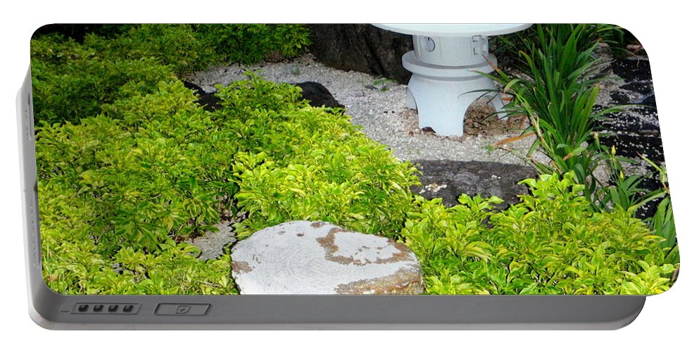 Garden Portable Battery Charger featuring the photograph The Welcoming Garden by Mary Deal