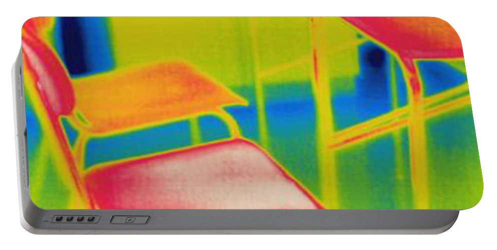 Thermogram Portable Battery Charger featuring the photograph Thermal Shadow by Ted Kinsman