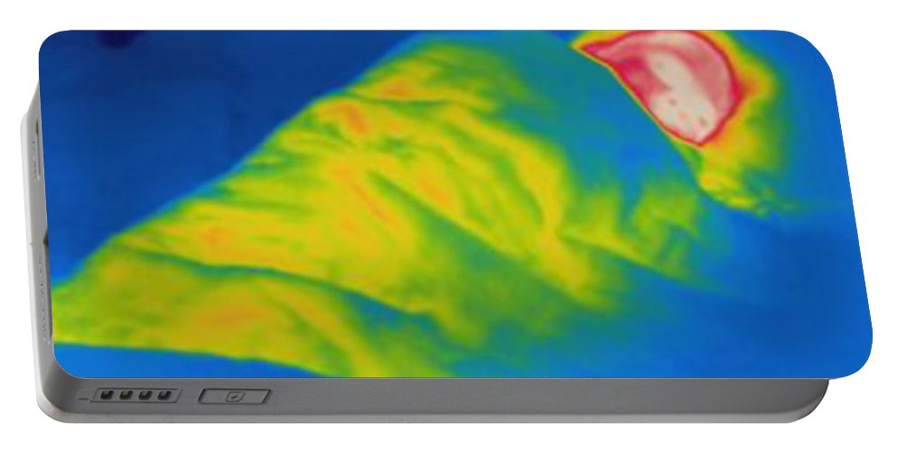 Thermogram Portable Battery Charger featuring the photograph Thermogram Of A Child Sleeping by Ted Kinsman