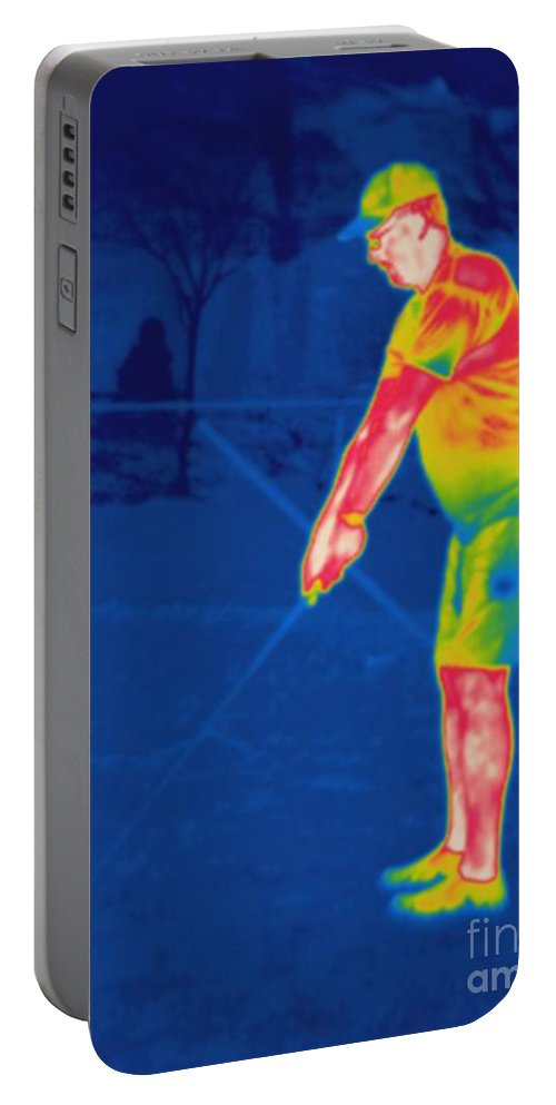 Thermogram Portable Battery Charger featuring the photograph Thermogram Of A Golfer by Ted Kinsman