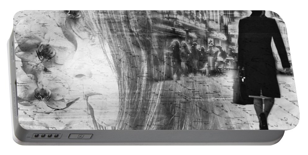 Lady Portable Battery Charger featuring the photograph Thinking Of You by Claudia Moeckel