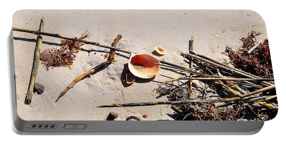 Shell Portable Battery Charger featuring the photograph Tidal Treasures by Al Powell Photography USA