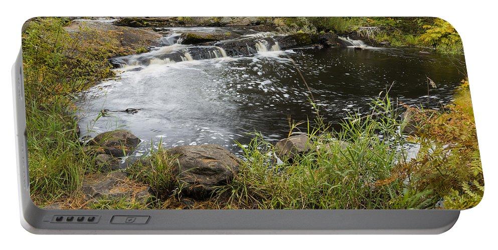 Tidga Portable Battery Charger featuring the photograph Tidga Creek Falls 2 by John Brueske