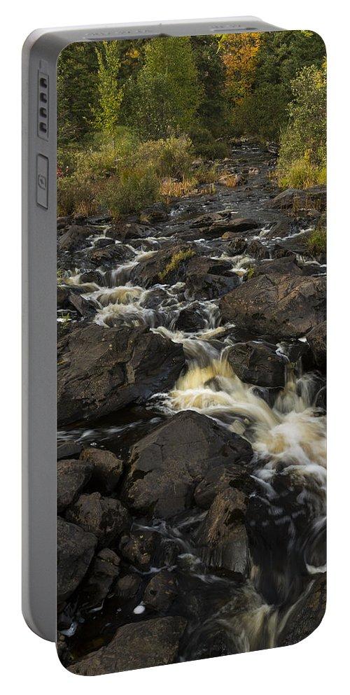 Tidga Portable Battery Charger featuring the photograph Tidga Creek Falls 3 by John Brueske