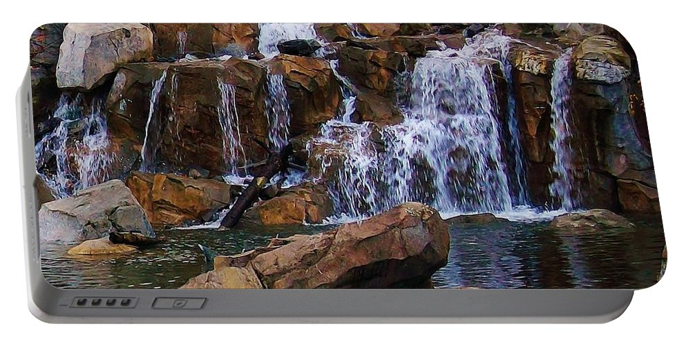 Waterfall Portable Battery Charger featuring the photograph Time To Reflect by Bruce Bley