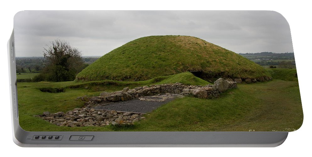 Tomb Portable Battery Charger featuring the photograph Tomb - Knowth - Ireland by Christiane Schulze Art And Photography