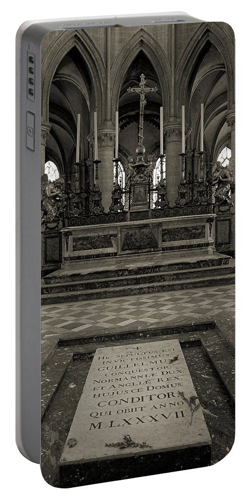 Tomb Portable Battery Charger featuring the photograph Tomb Of William The Conqueror by RicardMN Photography