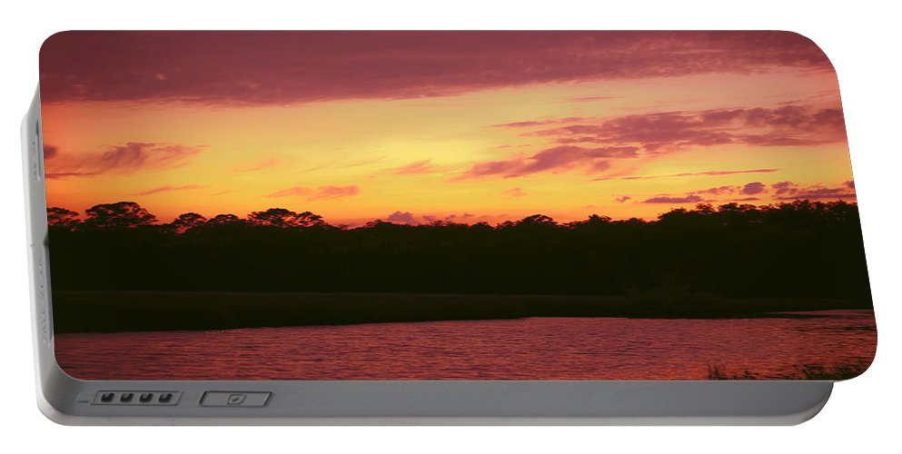Tomoka River Portable Battery Charger featuring the photograph Tomoka River Sunset by DigiArt Diaries by Vicky B Fuller