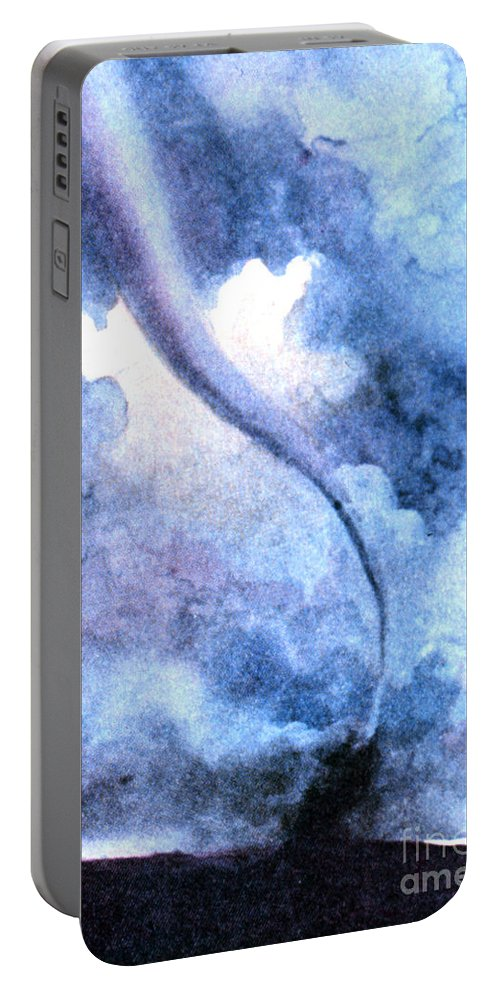Science Portable Battery Charger featuring the photograph Tornado 1931 by Science Source