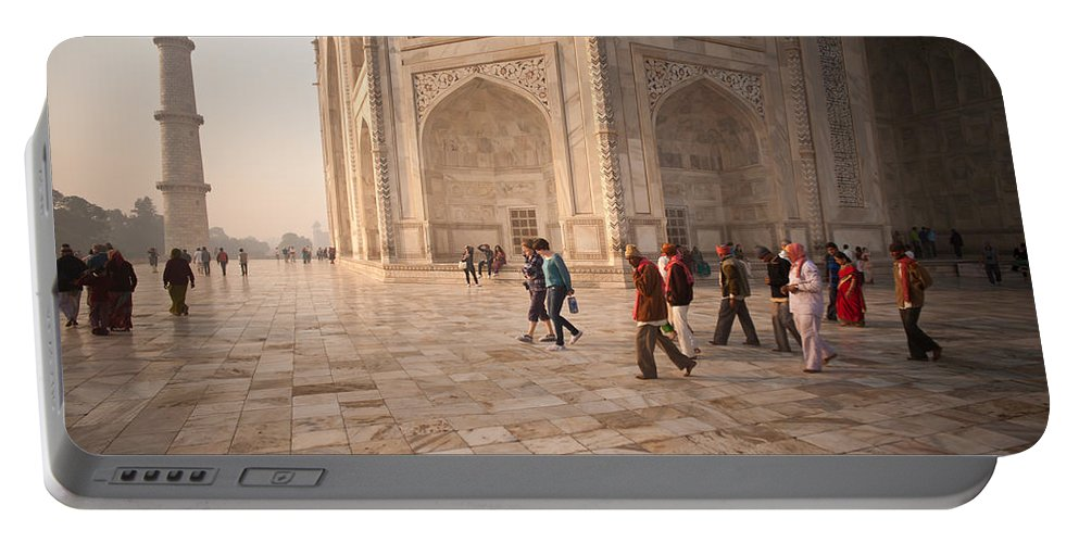 Taj Mahal Portable Battery Charger featuring the photograph Touring Taj by Mike Reid