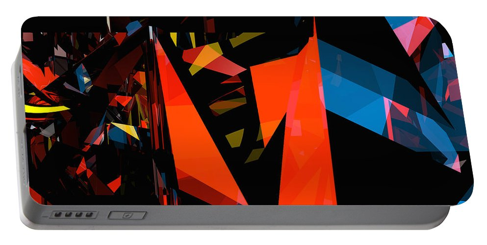 Abstract Portable Battery Charger featuring the digital art Tower Series 3 by Russell Kightley