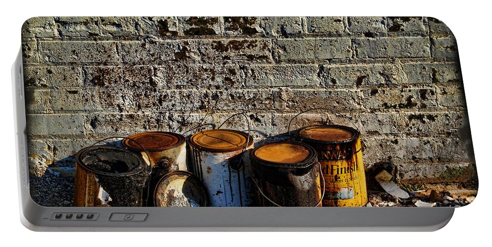 Alley Portable Battery Charger featuring the photograph Toxic Alley Grunge Art by Kathy Clark
