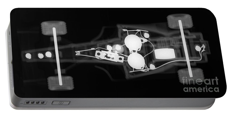Toy Portable Battery Charger featuring the photograph Toy Car X-ray by Ted Kinsman