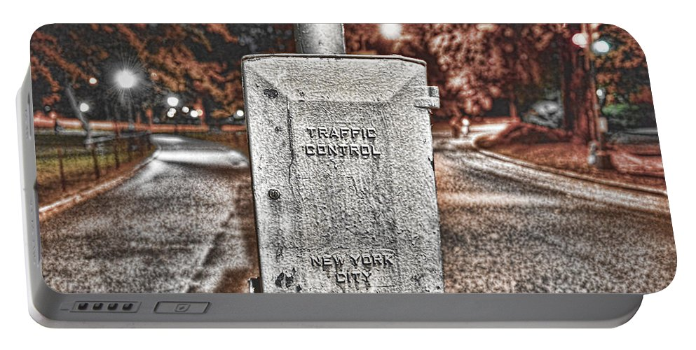Traffic Control Box Portable Battery Charger featuring the photograph Traffic Control Box by Paul Ward