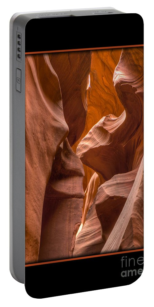 Antelope Canyon Portable Battery Charger featuring the photograph Trail by Larry White
