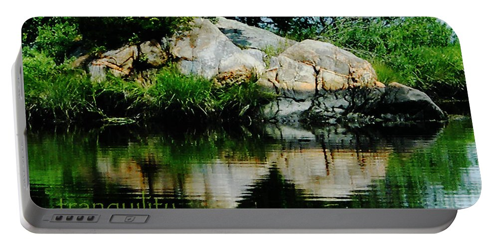 Tranquility Portable Battery Charger featuring the photograph Tranquility by Lizi Beard-Ward
